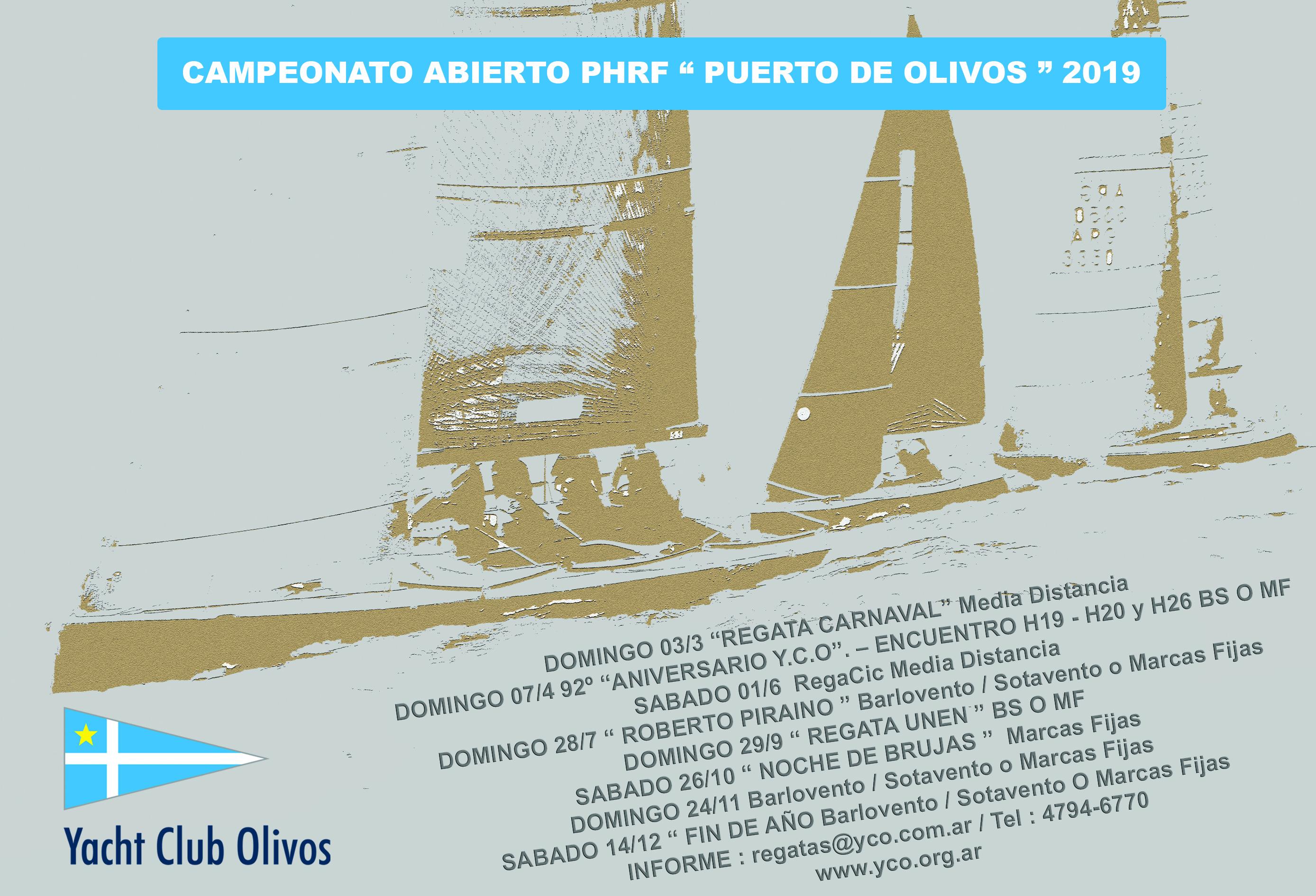 """CAMPEONATO ABIERTO P.H.R.F. """"PUERTO DE OLIVOS"""" 2019"""