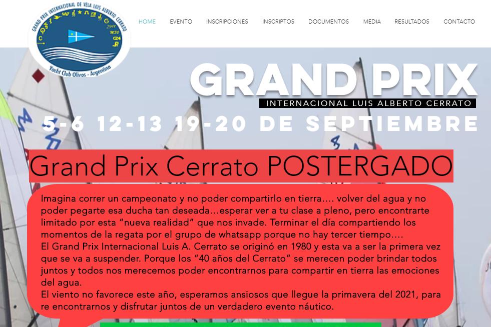 """GRAND PRIX """"LUIS ALBERTO CERRATO"""""""
